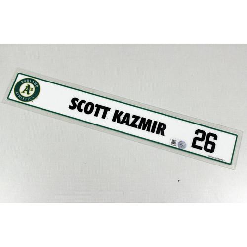 Photo of Scott Kazmir Locker Nameplate