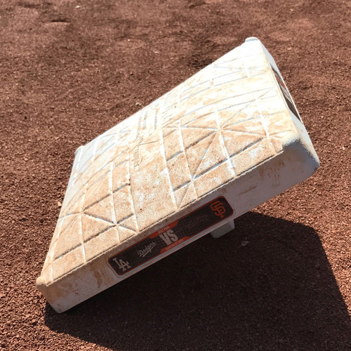Photo of San Francisco Giants - Game-Used 1st Base - Used innings 1-3 during Christian Arroyo's 1st Major League Hit on April 25th, 2017
