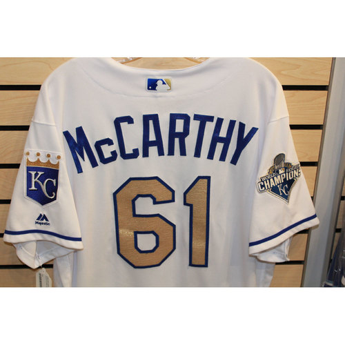 Photo of Game-Used Kevin McCarthy Jersey (Size 48) (9/16/16 CWS @ KC)