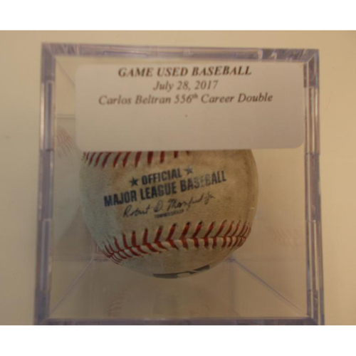 Game-Used Baseball: Carlos Beltran 556th Career Double