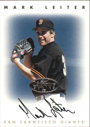 Photo of 1996 Leaf Signature Autographs Silver #132 Mark Leiter