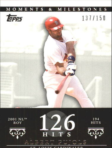 Photo of 2007 Topps Moments and Milestones #3-126 Albert Pujols/Hit 126
