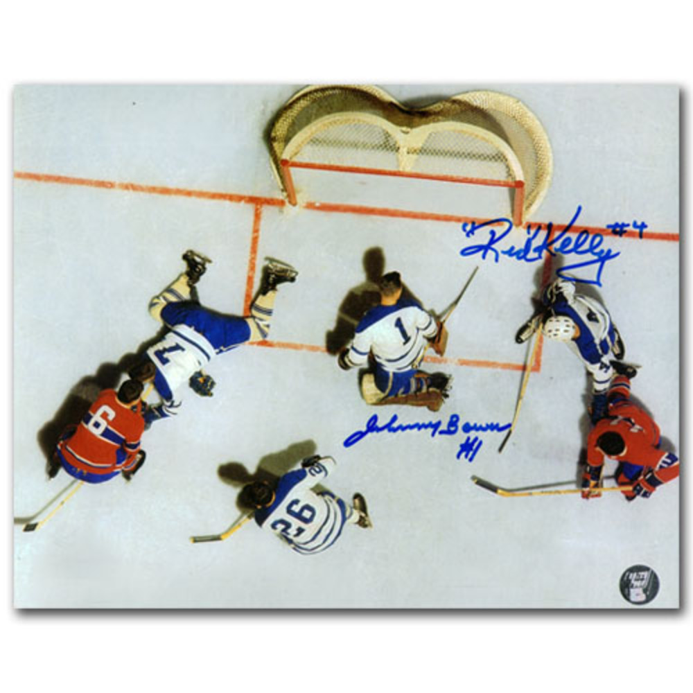 Johnny Bower & Red Kelly Autographed Toronto Maple Leafs 8X10 Photo