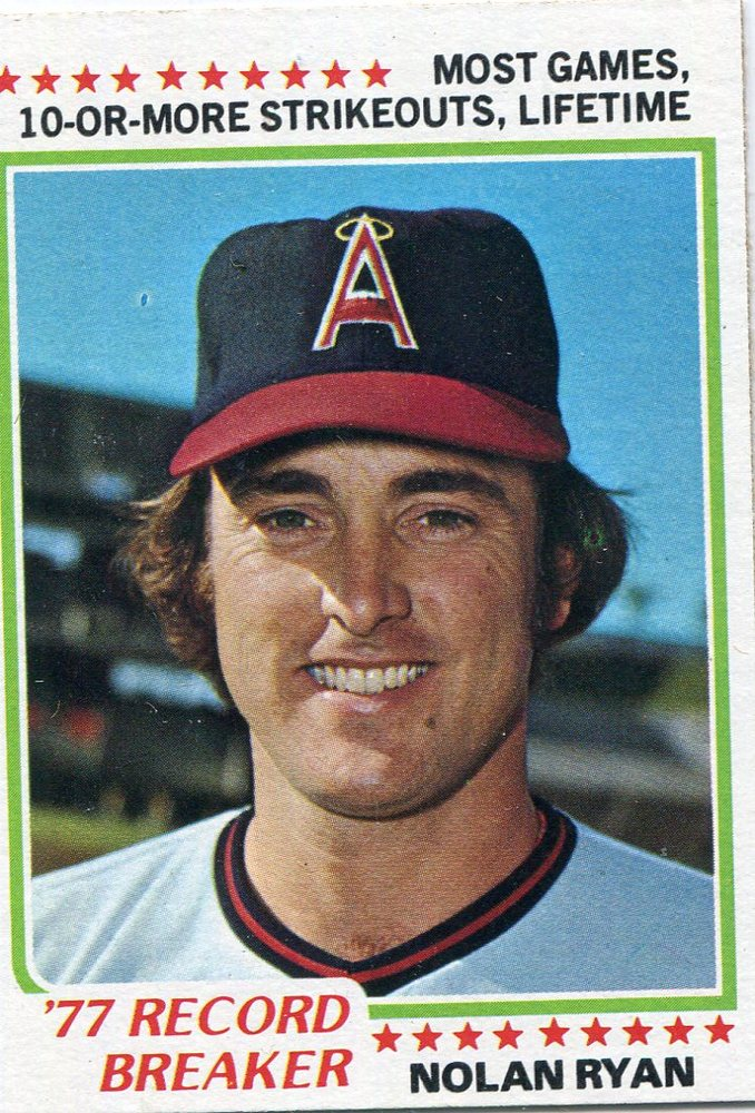 1978 Topps #6 Nolan Ryan Record Breaker