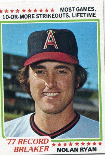 Photo of 1978 Topps #6 Nolan Ryan Record Breaker