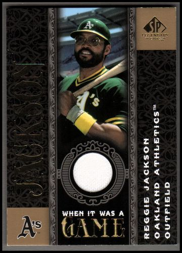 Photo of 2007 SP Legendary Cuts When it Was a Game Memorabilia #RJ Reggie Jackson