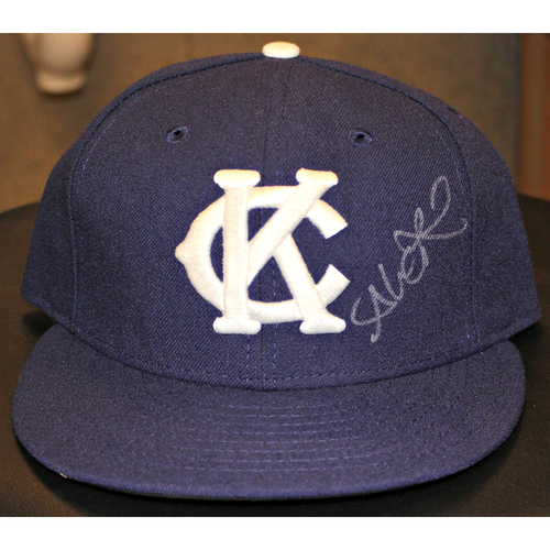 Alex Rios Autographed Game-Used Cap - (May 17, 2015 - NYY at KC) (Size 7 1/4)