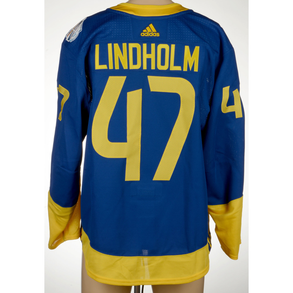 Hampus Lindholm Anaheim Ducks Player-Issued 2016 World Cup of Hockey Team Sweden Jersey
