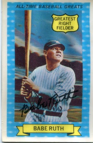 Photo of 1972 Kellogg's ATG #14 Babe Ruth
