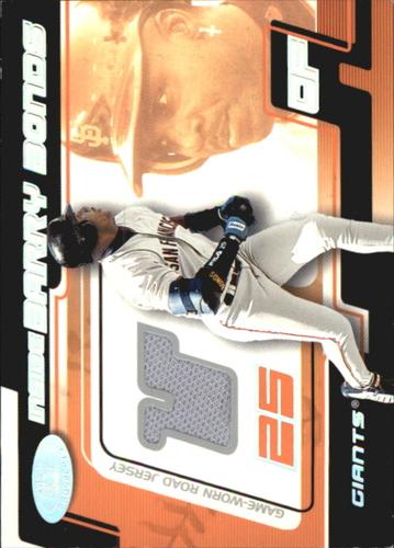 Photo of 2002 Hot Prospects Inside Barry Bonds Memorabilia #3 B.Bonds Away Jsy/800