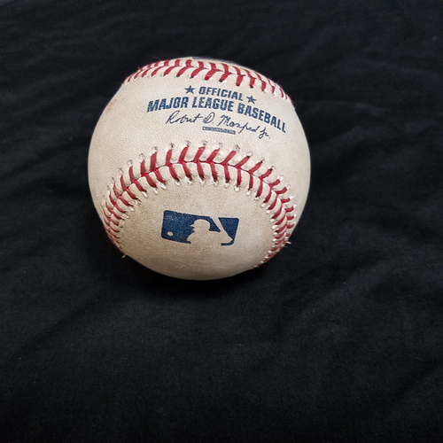 Photo of Mike Trout Game-Used Baseball - Double v Houston Astros