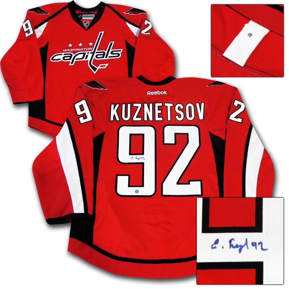 Evgeny Kuznetsov Autographed Washington Capitals Authentic Pro Jersey