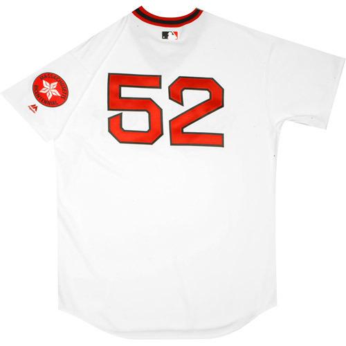 Photo of Boston Red Sox 1975 Throwback Complete Game-Used Uniform Set - Eduardo Rodriguez