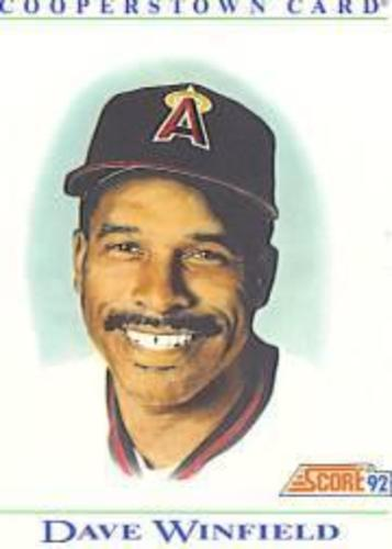 Photo of 1992 Score Factory Inserts #B10 Dave Winfield COOP