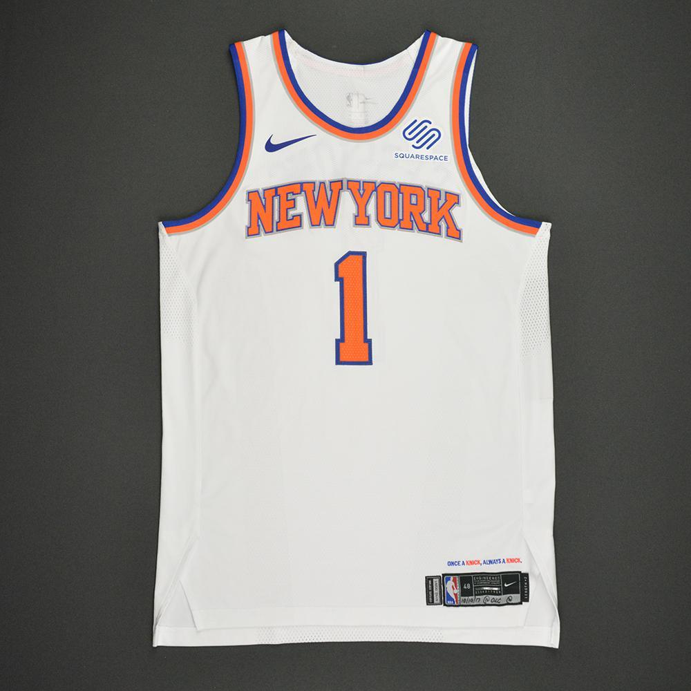 Ramon Sessions - New York Knicks - Kia NBA Tip-Off 2017 - Game-Worn 1st Half Only Jersey