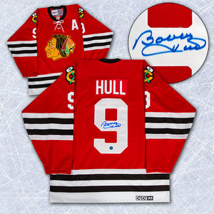 Bobby Hull Chicago Blackhawks Autographed Retro CCM Hockey Jersey