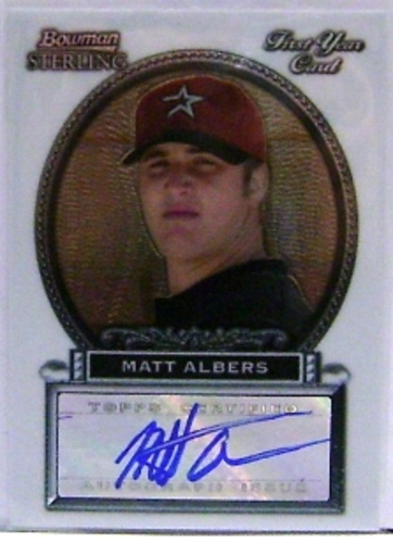 Photo of 2005 Bowman Sterling #MA Matt Albers AU A RC