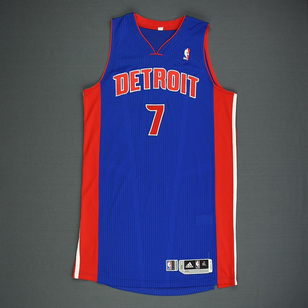 Brandon Knight - Detroit Pistons - Game-Worn Jersey - 2011-12 NBA Season