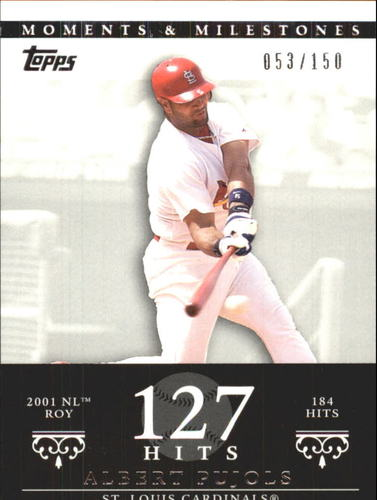 Photo of 2007 Topps Moments and Milestones #3-127 Albert Pujols/Hit 127