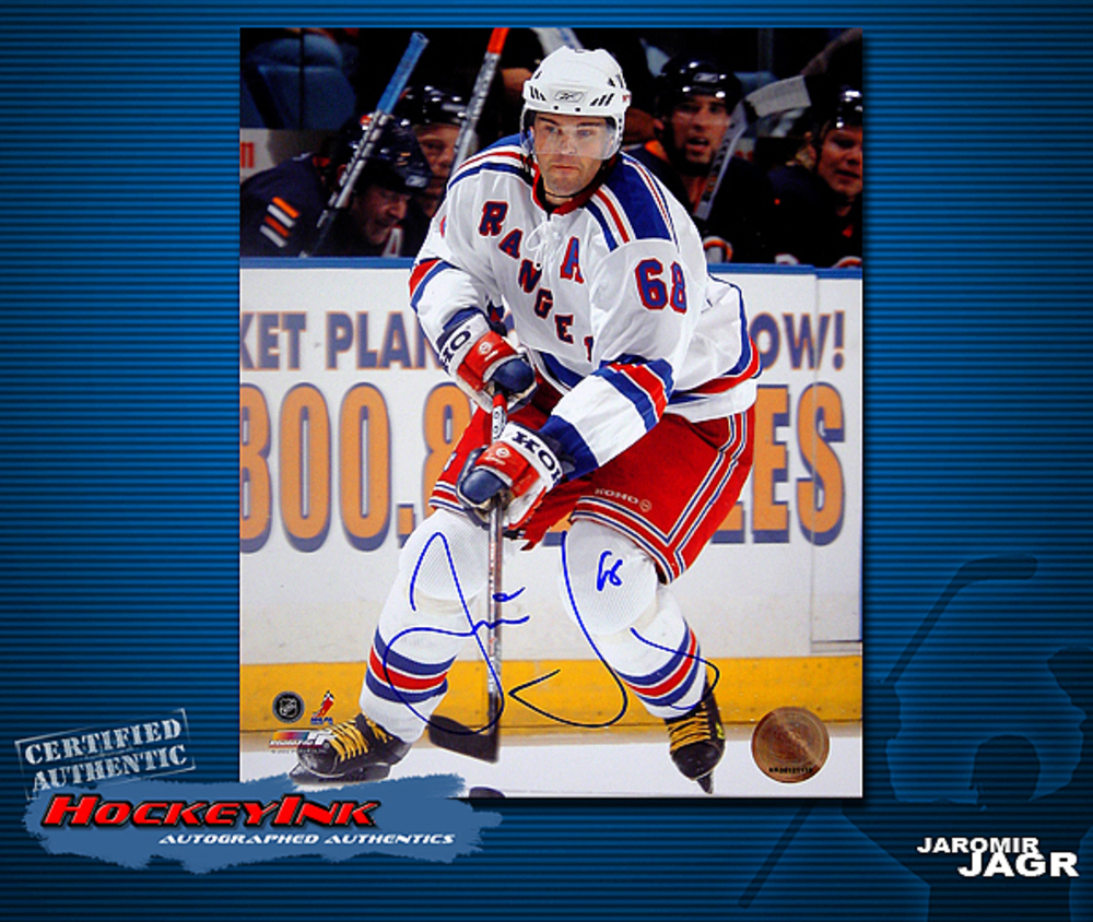 JAROMIR JAGR Signed New York Rangers 8 X 10 Photo - 70331