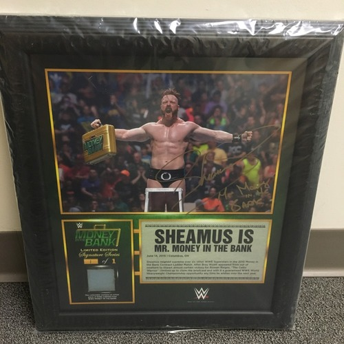 Photo of Sheamus SIGNED Money in the Bank 2015 Ring Canvas Plaque