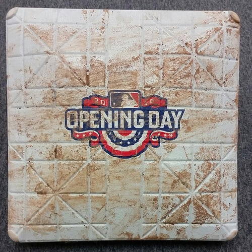 Photo of Authenticated Game-Used 3rd Base from April 8, 2016 40th Season Home Opener vs Boston Red Sox - used for innings 1-3.