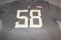 NFL - BRONCOS VON MILLER 2016 PRO BOWL LIGHT GRAY T-SHIRT WITH NAME AND NUMBER - SIZE 2XL