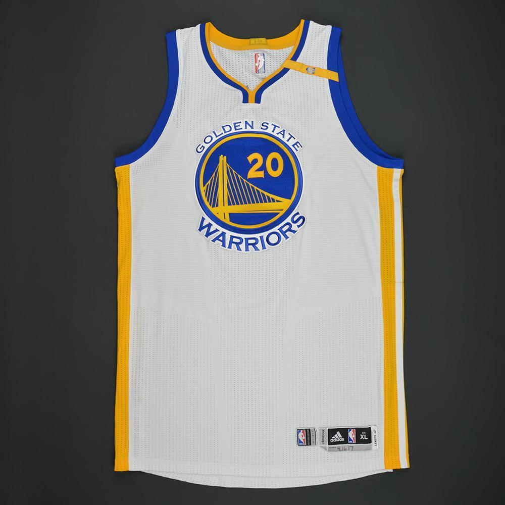James Michael McAdoo - Golden State Warriors - White Playoffs w/ 42 Patch Game-Worn Jersey - 2016-17 Season