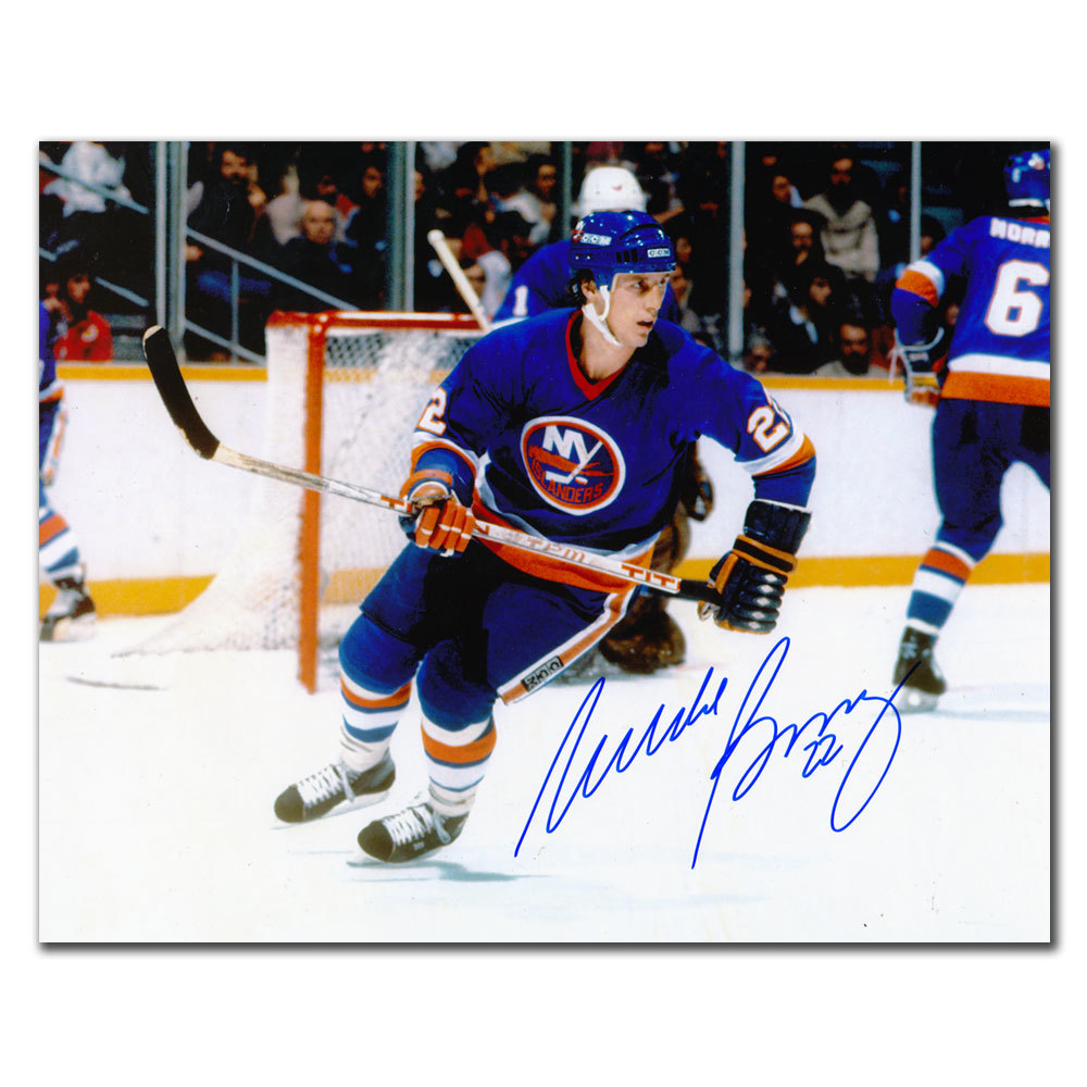 Mike Bossy New York Islanders BREAKOUT Autographed 8x10
