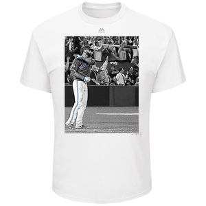 Toronto Blue Jays Men's Jose Bautista Bat Flip T-Shirt by Majestic