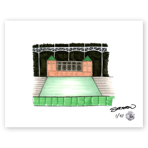 Photo of Globe Life Park Sketch - Limited Edition Print 1/42 by S. Preston
