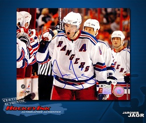 JAROMIR JAGR Signed New York Rangers 8 X 10 Photo - 70332