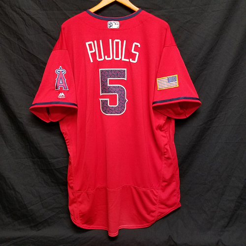 Photo of Albert Pujols Game-Used 4th of July Jersey