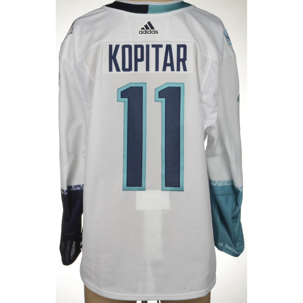 Anze Kopitar Los Angeles Kings Game-Worn 2016 World Cup of Hockey Team Europe Jersey, Worn In Semifinal Game Against Team Sweden On September 25th