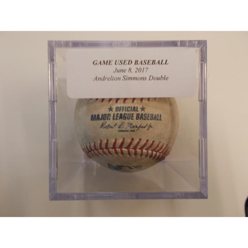 Game-Used Baseball: Andrelton Simmons Double