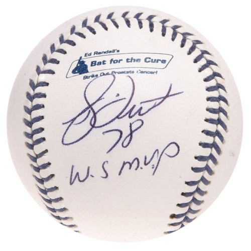 """Photo of Ed Randall's Fans For the Cure Auction: Bucky Dent Autographed Inscribed """"78 WS MVP"""" Baseball"""