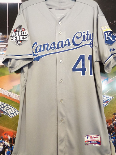 Photo of Club Issued Danny Duffy Grey 2015 World Series Jersey