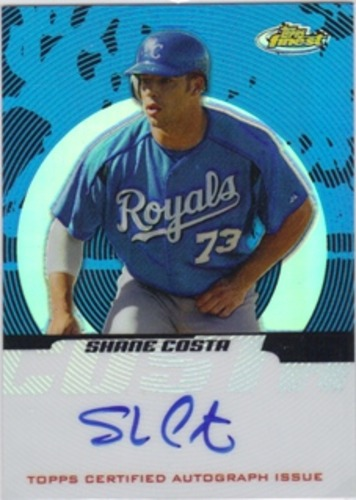 Photo of 2005 Finest Refractors Blue #145 Shane Costa AU