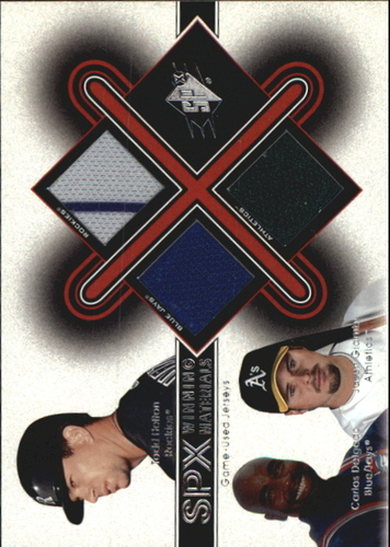 Photo of 2001 SPx Winning Materials Update Trios #HDG Todd Helton/Carlos Delgado/Jason Giambi