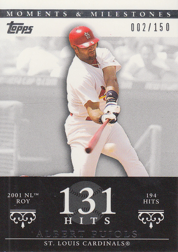 Photo of 2007 Topps Moments and Milestones #3-131 Albert Pujols/Hit 131