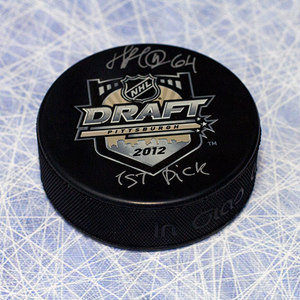 Nail Yakupov 2013 NHL Draft Day Puck Autographed with 1st Pick Inscription *Edmonton Oilers*