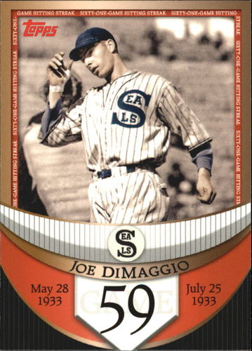 Photo of 2007 Topps DiMaggio Streak Before the Streak #JDSF59 Joe DiMaggio
