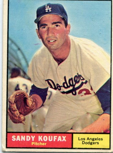 Photo of 1961 Topps #344 Sandy Koufax -- Dodgers Hall of Famer