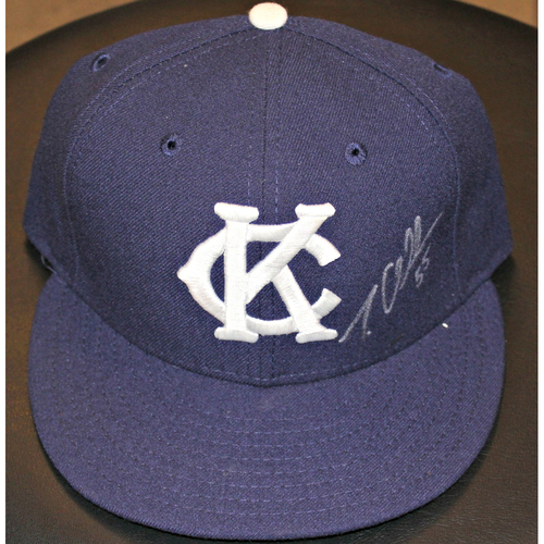 Photo of Tim Collins Autographed Game-Used Cap - (May 17, 2015 - NYY at KC)