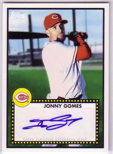 Photo of 2011 Topps Lineage 1952 Autographs #52AJG Jonny Gomes