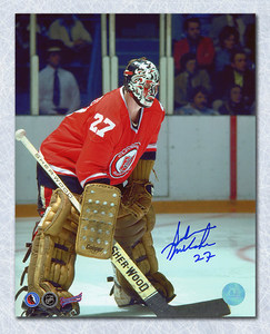 Gilles Meloche Cleveland Barons Autographed 8x10 Photo