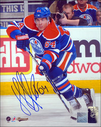 Nail Yakupov Autographed Edmonton Oilers 8x10 Action Photo