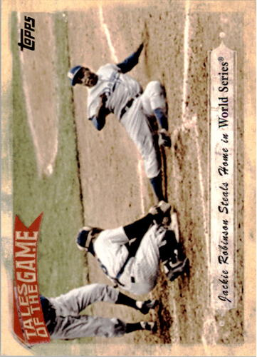 Photo of 2010 Topps Tales of the Game #TOG5 Jackie Robinson Steals Home/in World Series