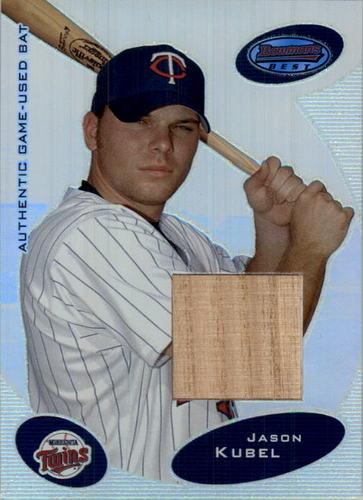Photo of 2003 Bowman's Best #JKB Jason Kubel FY Bat