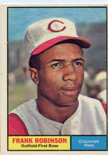 Photo of 1961 Topps #360 Frank Robinson -- Reds Hall of Famer